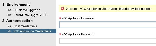 vCO Credentials