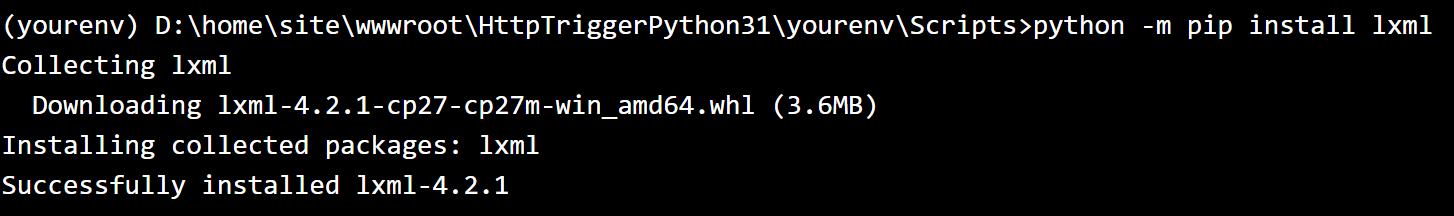 lxml Install