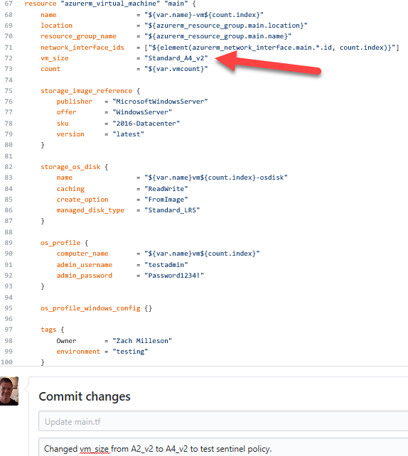 Changed Code