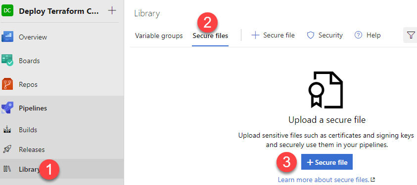Upload a secure file