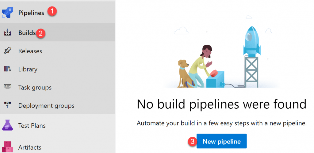 Create a build pipeline